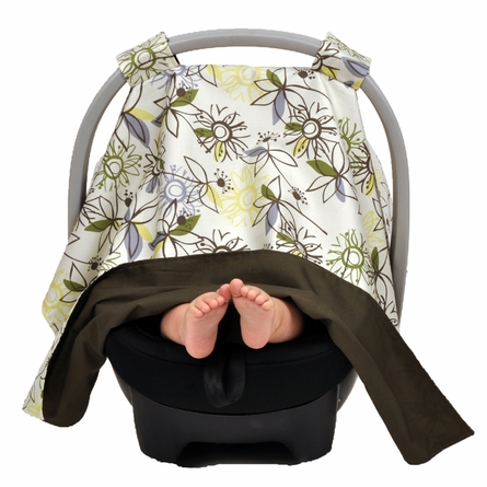 Car Seat Canopy in Retro Flower