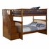 Caramel Latte Classic Arch Slatted Bunk Bed with Stairs