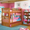 Caramel Latte Classic Panel Slatted Bunk Bed