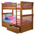 Caramel Latte Classic Panel Slatted Twin Bunk Bed