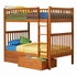 Caramel Latte Modern Slatted Bunk Bed