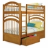 Caramel Latte Traditional Curved Slatted Bunk Bed