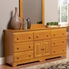 Caramel Latte Traditional Seven Drawer Dresser