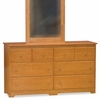 Caramel Latte Traditional Six Drawer Dresser