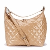 Caramel Patent Hobo Diaper Bag