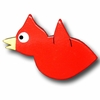Cardinal Chix Red Drawer Pull