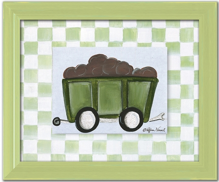 Cargo Car Personalized Framed Canvas Reproduction