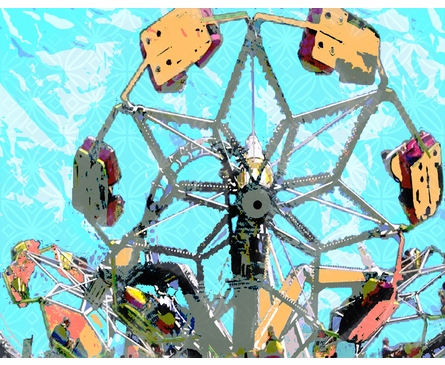 Carnival Ride Personalized Framed Art Print