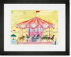 Carousel Framed Art Print