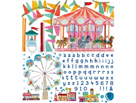 Carousel Peel & Place Wall Stickers