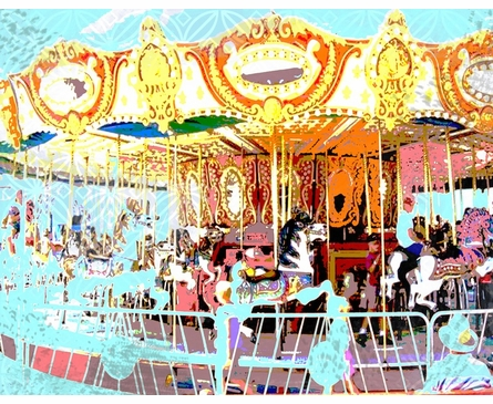 Carousel Personalized Framed Art Print