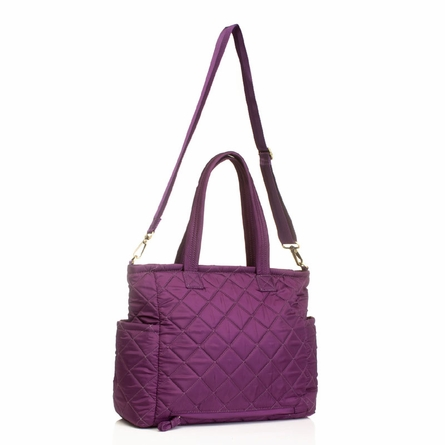 Carry Love Tote Diaper Bag in Plum