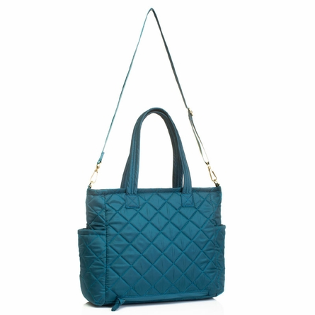 Carry Love Tote Diaper Bag in Teal