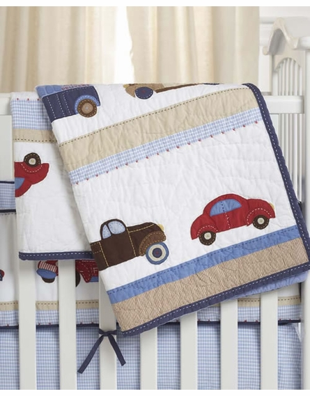 Cars and Truck Crib Bedding Set