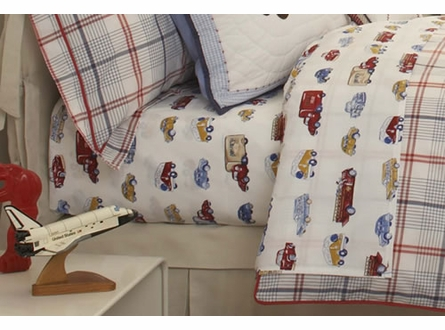 Cars and Trucks Twin Sheet Set