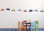 Cars in a Row Fabric Wall Decal