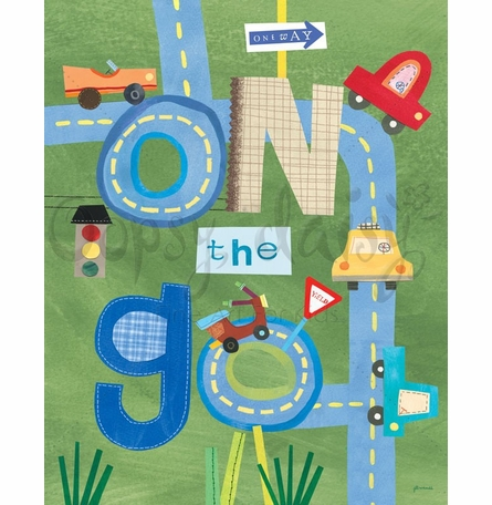 Cars On The Go Canvas Wall Art