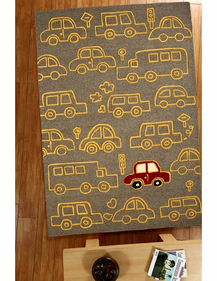 Cars on the Move Rug