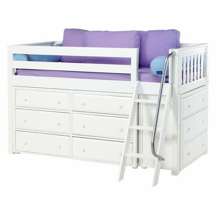 Carter Low Loft Bed with Dressers