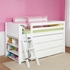 Carter Low Loft Bed with Dressers and Bookcase