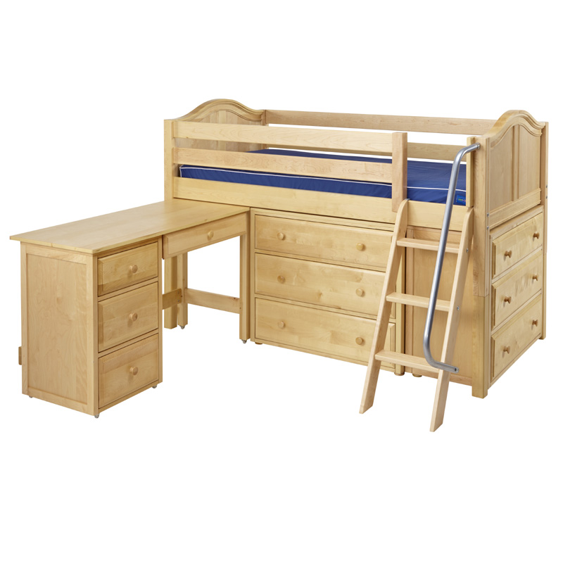 how to make a loft bed with dressers