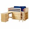 Kicks Low Loft Bed with Dressers, Bookcase and Desk