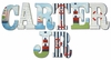 Carter Sail with Me Hand Painted Wall Letters
