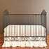Casablanca Convertible Crib Distressed Black