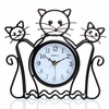 Cat Silhouette Wall and Table Clock