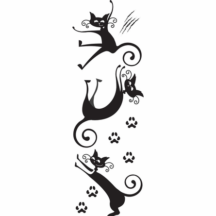 On Sale Cat Tricks Wall Decals