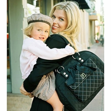 Cate Tote Diaper Bag in Black Tea