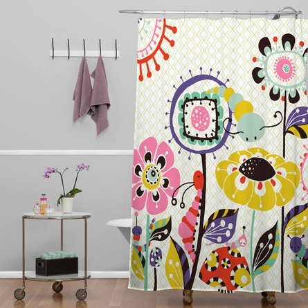 Caterpillar Shower Curtain