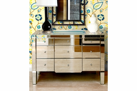 Catherine 9-Drawer Mirrored Dresser