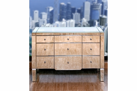 Catherine Extra Large 6-Drawer Mirrored Dresser