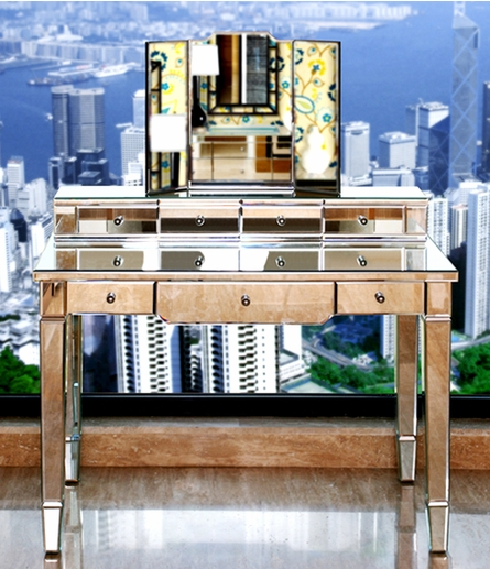 Catherine Mirrored Vanity Desk