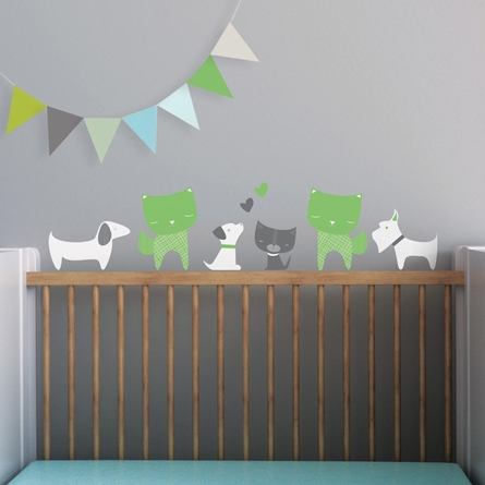 Cats and Dogs Wall Decal
