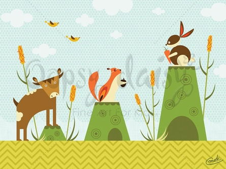 Cattails and Critters Canvas Wall Art