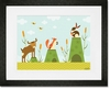 Cattails and Critters Framed Art Print
