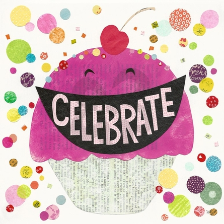 Celebrate Cupcake Canvas Wall Art