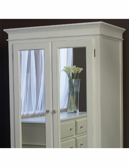 Celine Armoire with Mirrored Doors