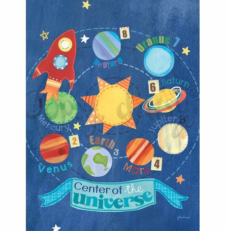 Center of the Universe Poster Wall Decal