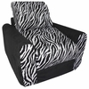 Chair Sleeper in Black Zebra