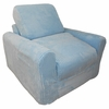 Chair Sleeper in Blue Chenille