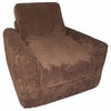 Chair Sleeper in Brown Chenille