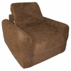 Chair Sleeper in Brown Microsuede