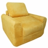 Chair Sleeper in Canary Yellow Microsuede