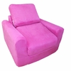 Chair Sleeper in Fuchsia Microsuede