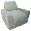 Chair Sleeper in Green Chenille