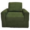 Chair Sleeper in Green Microsuede