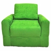 Chair Sleeper in Lime Green Microsuede